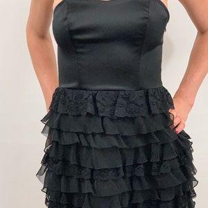 Express: Black Strapless Cocktail Dress